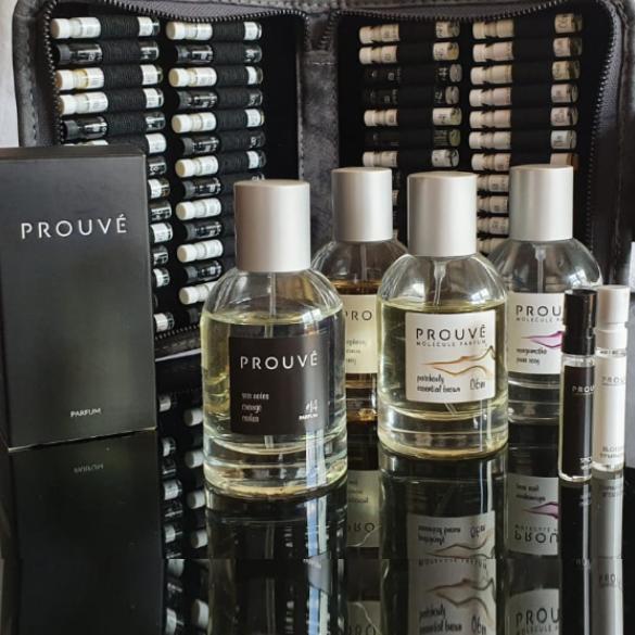 muestras de perfumes de elaboración francesa Prouvé